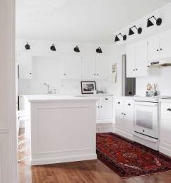 a former eat in kitchen combo to a regular rounded out full kitchen 2 the big and adequate trash center and 3 the microwave is not on the counter  [ 1200 x 1732 Pixel ]