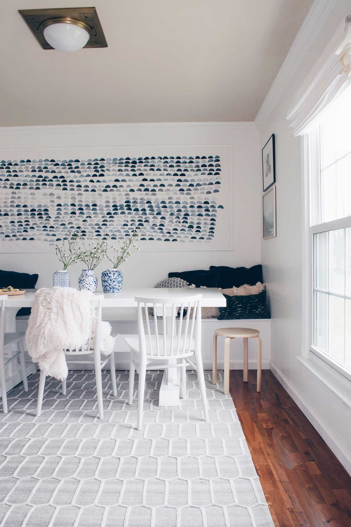 a casual comfortable dining room