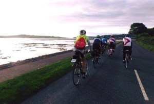 A group of cyclist doing the Wild Atlantic Way Audax