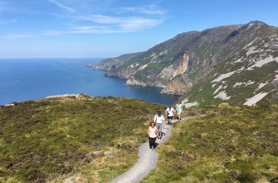 Slieve League Donegal Rachel's Irish Adventures tailor made and private hiking tours