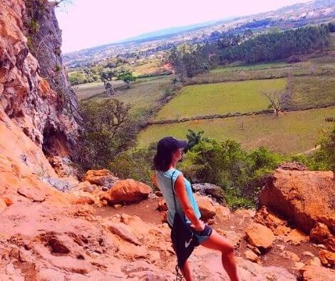 Rachel exploring caves in Cuba