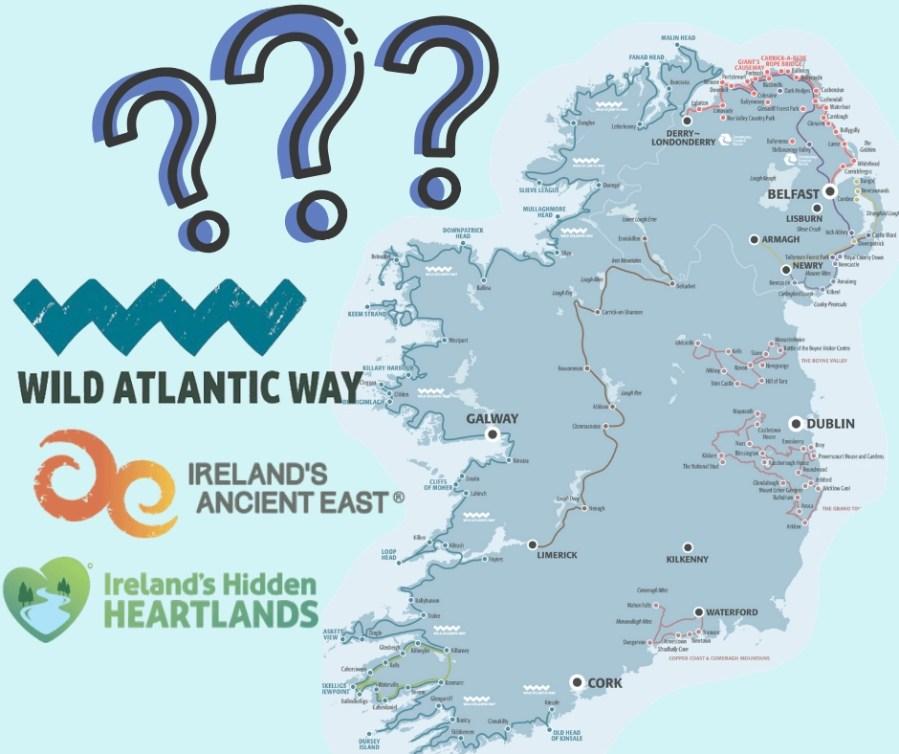 Where to go in Ireland map, The best way to travel Ireland, Ireland travel tips, Rachel's Irish Adventures