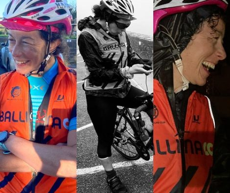 Rachel at different stages of the Transatlanticway