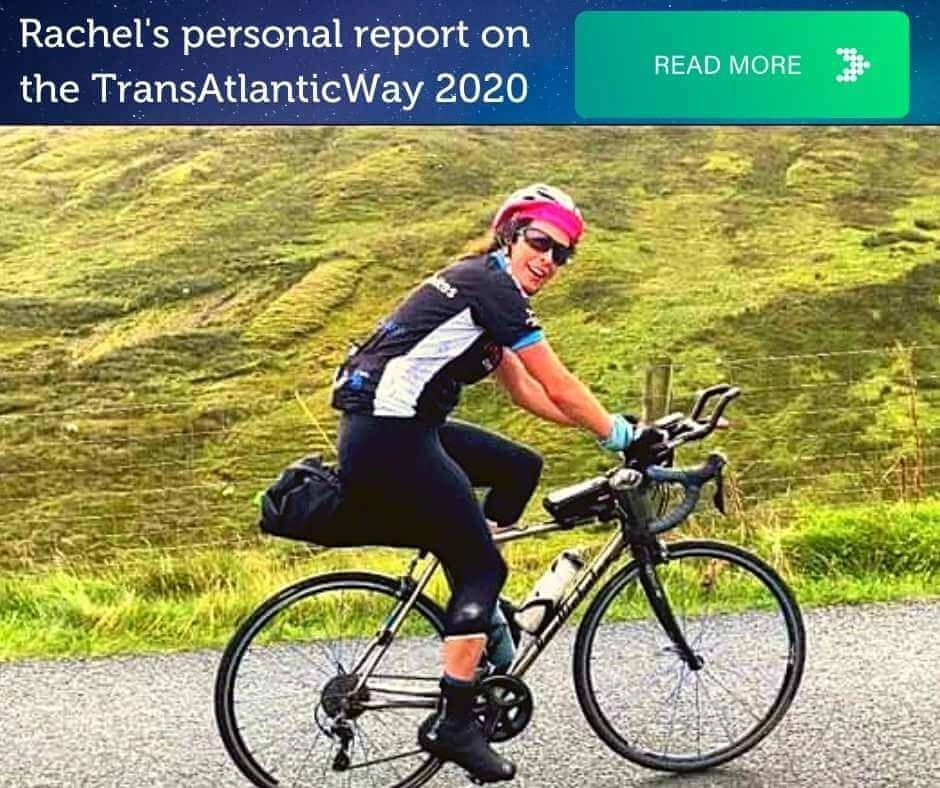Rachel Nolan cycling along the Wild Atlantic Way during the TransAtlanticWay cycling event