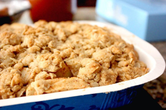 Carrie Sprouse recreates the Fall Apple Crisp from AllRecipes.com in her kitchen in Woodstock, Georgia on October 8, 2016. A baker of 40+ years, Sprouse can make most recipes she finds on AllRecipes.com's Pinterest page.