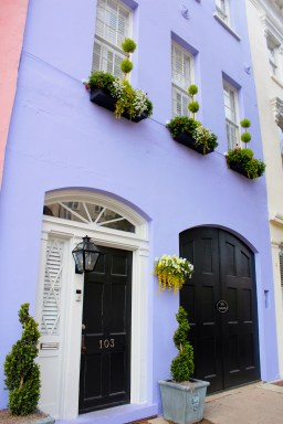 This is one of the houses that make up Rainbow Row in Charleston, South Carolina