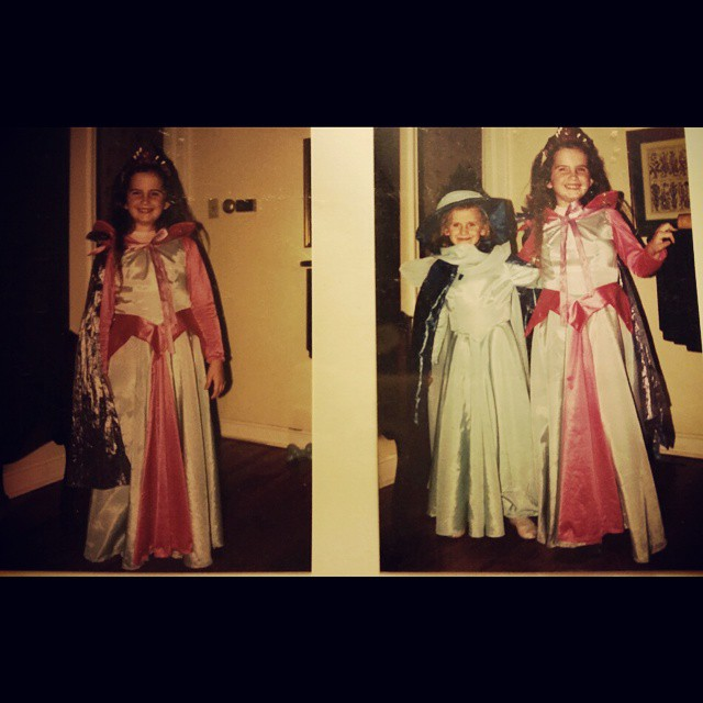 My sister and I for Halloween.  She was Marywether and I was Aurora.