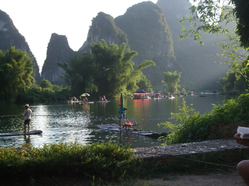the view from our hotel in Yangshuo