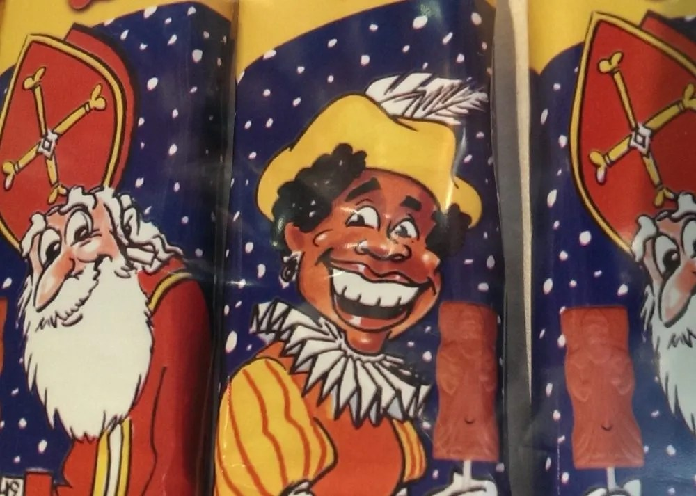 Zwarte Piet and Sinterklaas as portrayed on candy wrappers: what the dutch think about Americans