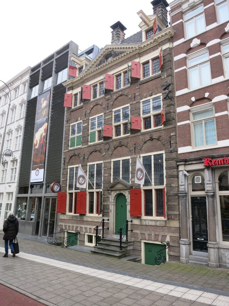 exterior of Rembrandt's house in Amsterdam