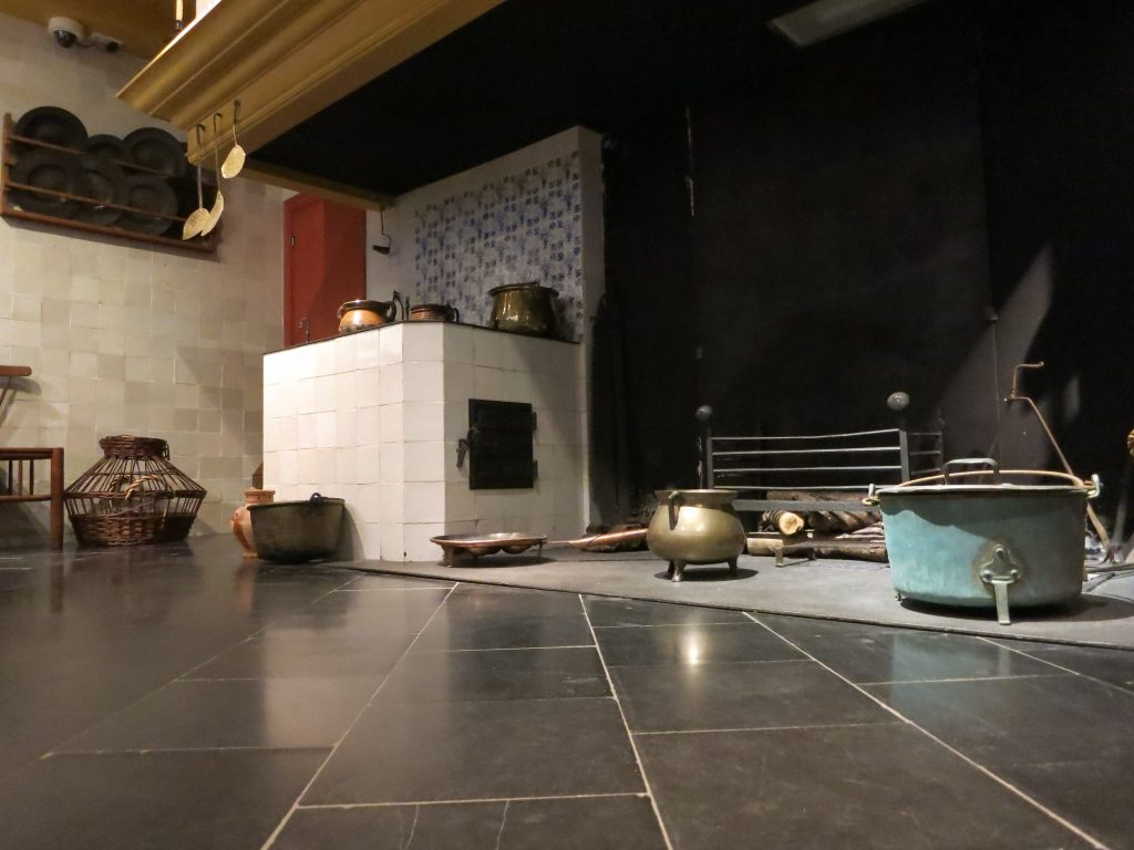 kitchen in Rembrandt's house in Amsterdam
