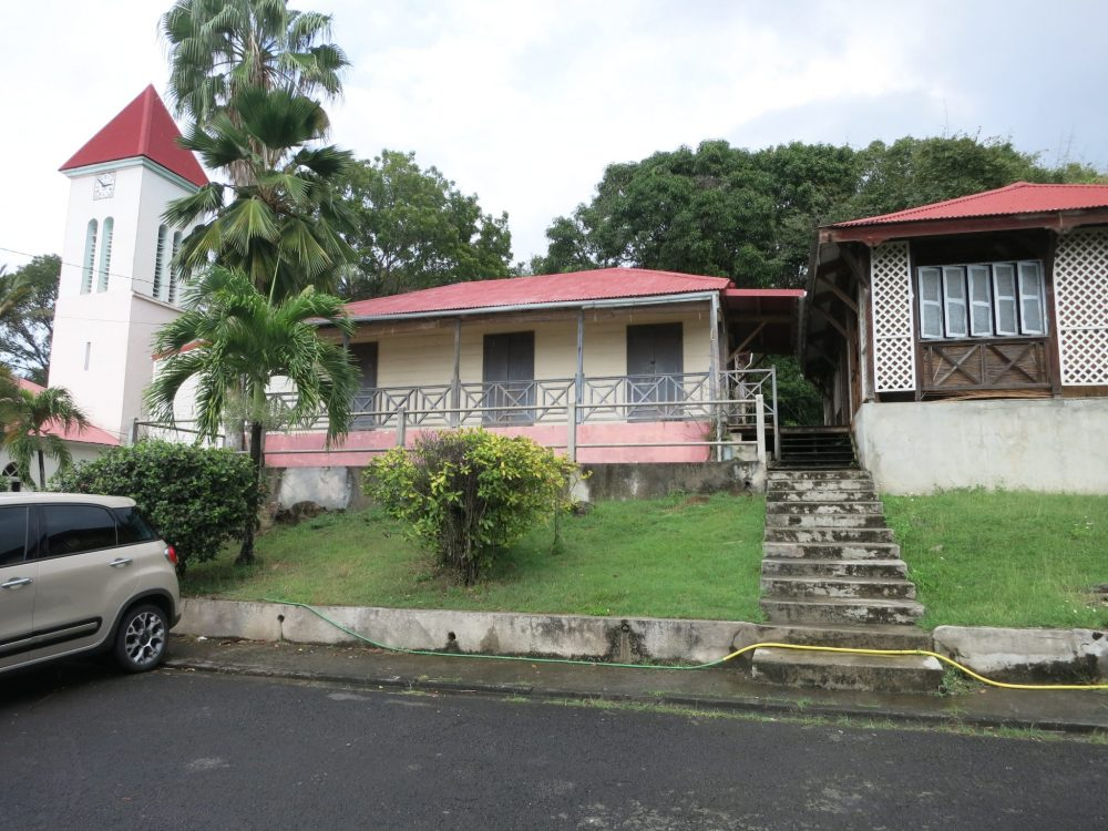 view of the fictional Saint Marie police station in Death in Paradise
