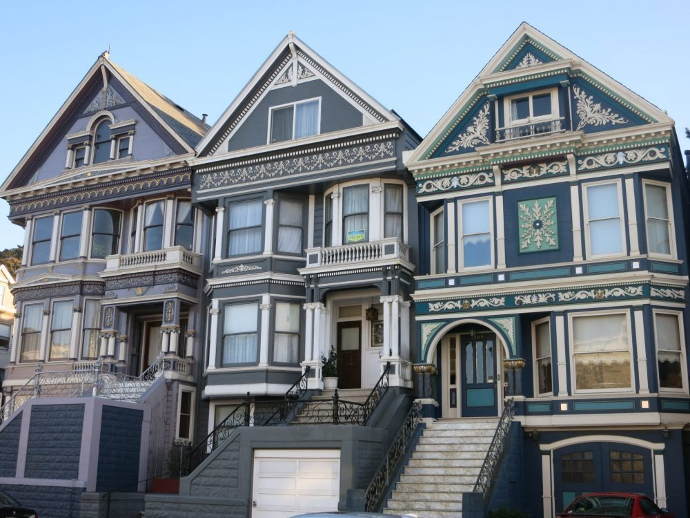 Victorians in the Haight-Ashbury