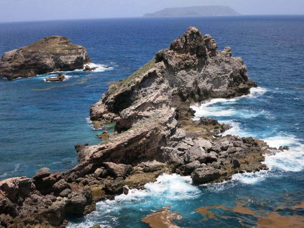 You pass Kreol West Indies on your way to this rocky outcrop