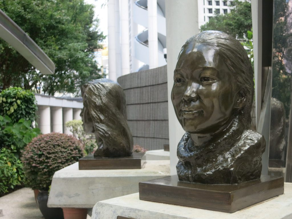 the SARS memorial in Hong Kong Park