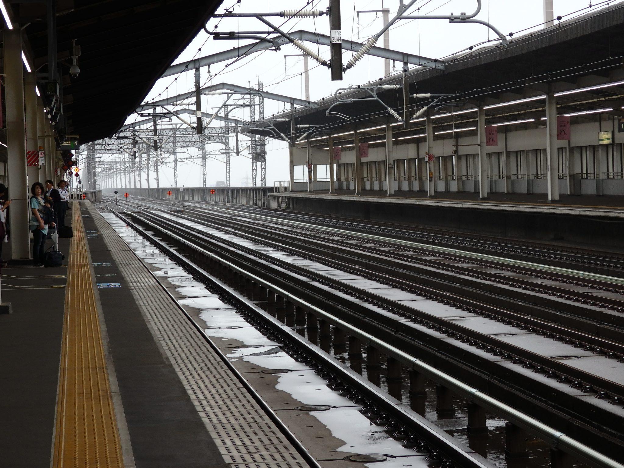 view of Japan Rail train tracks: what's your destination?