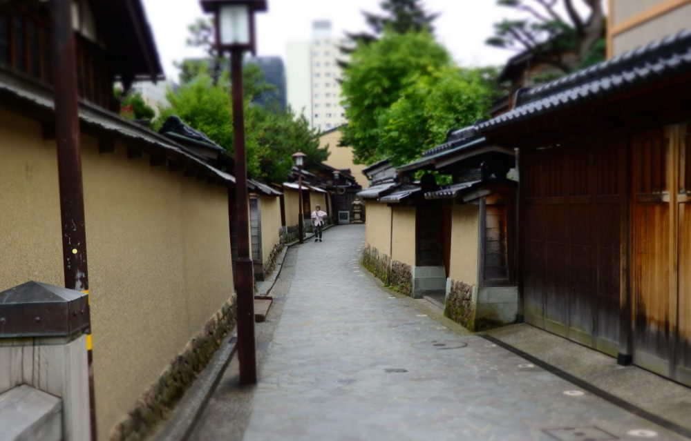 a street in the Nagamachi neighborhood of Kanazawa