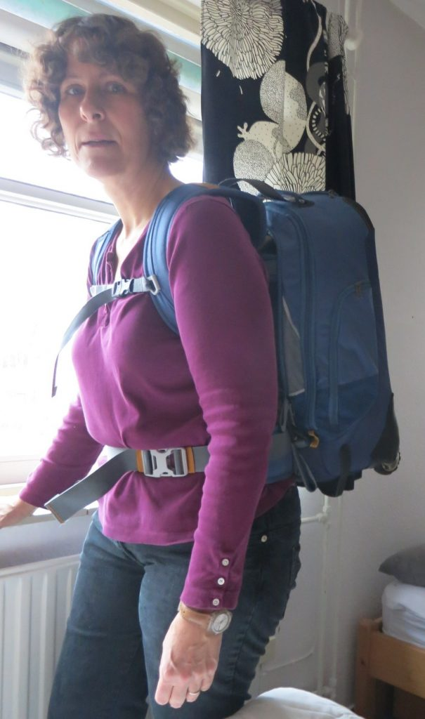 Here's a picture to give you an idea of how big a 35-liter backpack is.