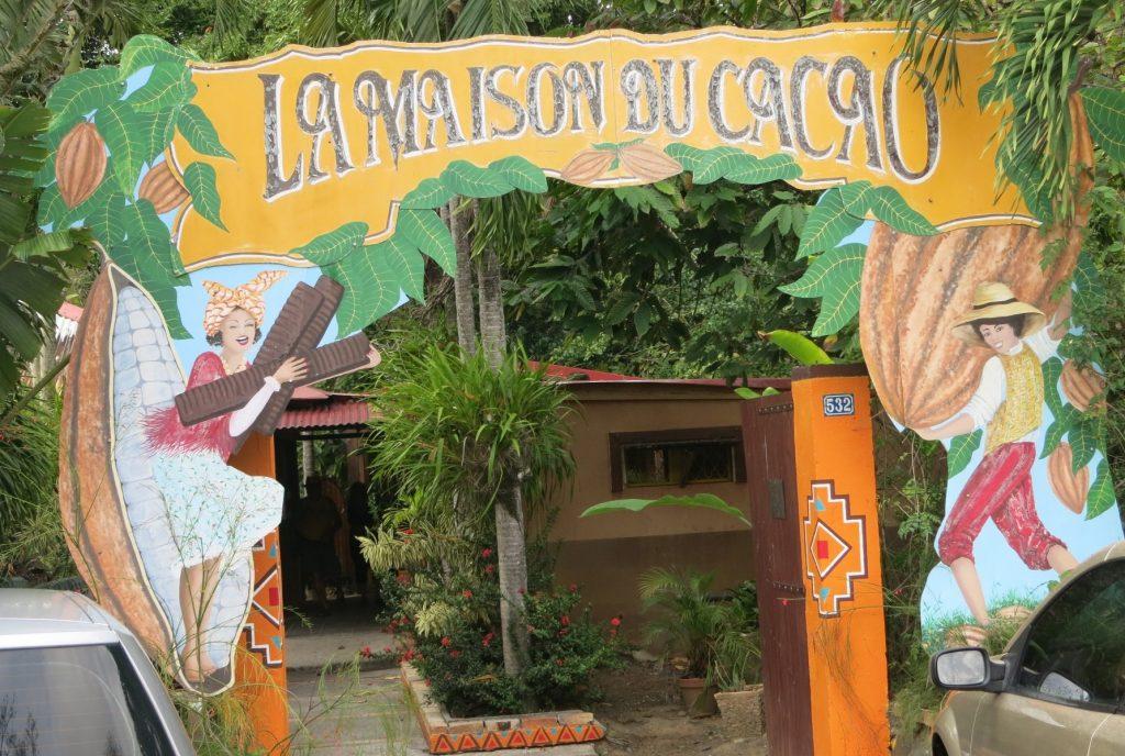 The entrance gate to La Maison de Cacao