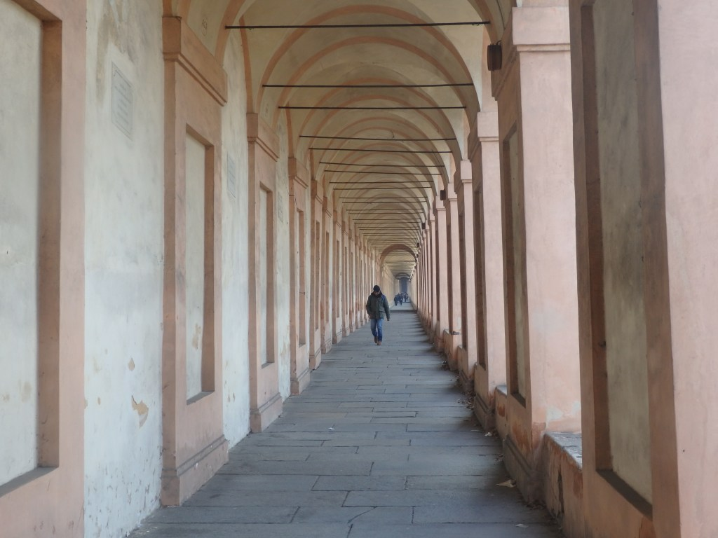 A shot of the walk up to San Luca in Bologna