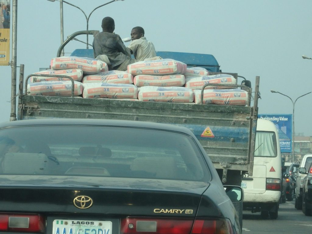 My view of traffic in Lagos, Nigeria