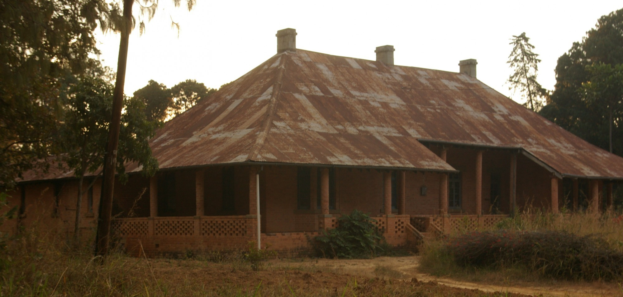 A colonial-era house in Livingstonia, Malawi