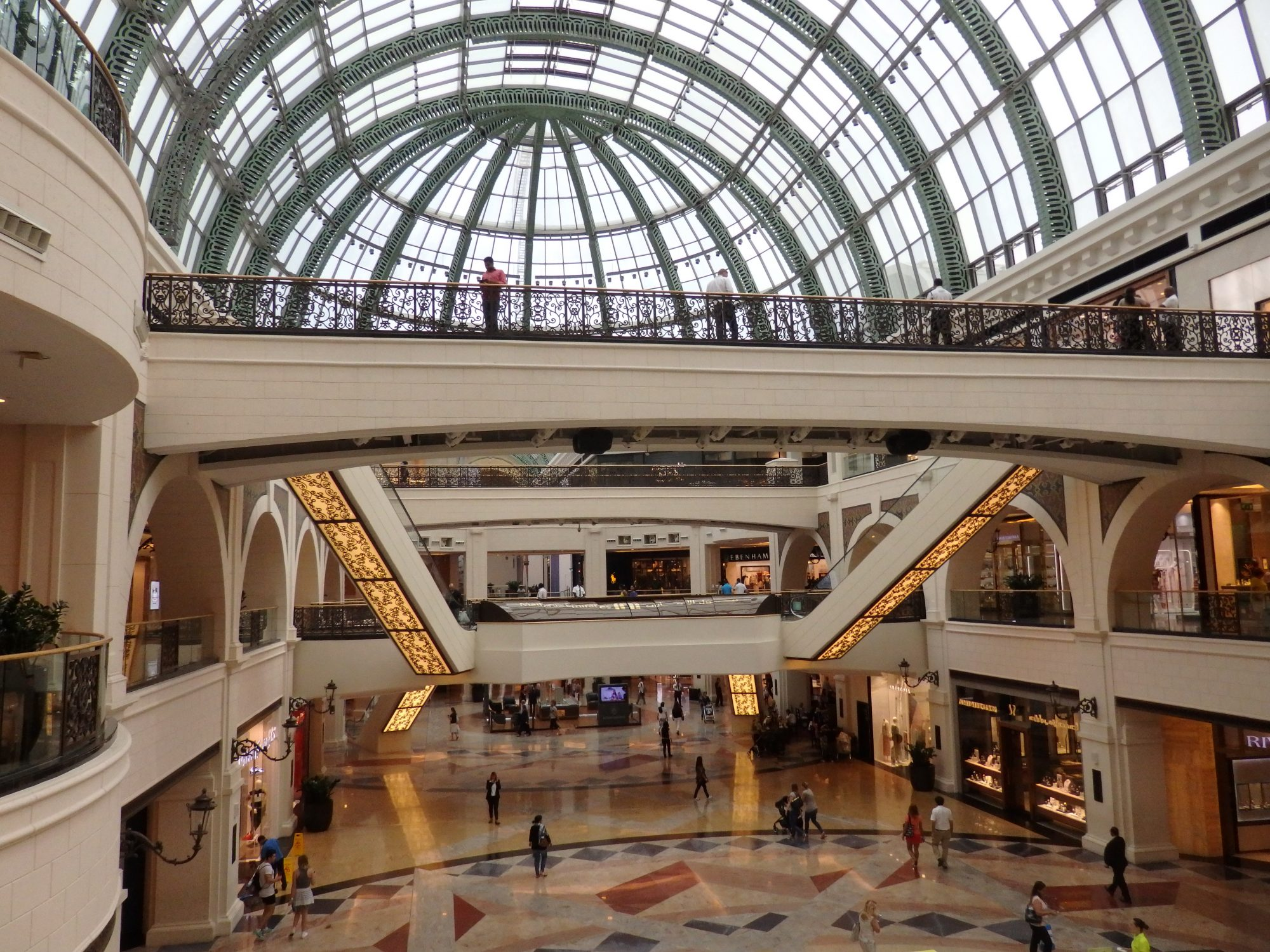 Half of the main atrium of the Mall of the Emirates in Dubai