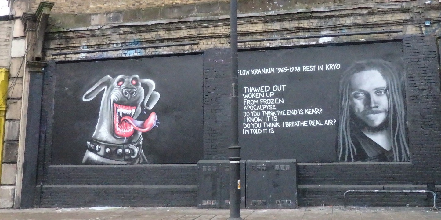 art on the side of a building in Shoreditch, London