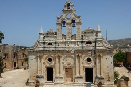 The church at Alkadi monastery in Crete