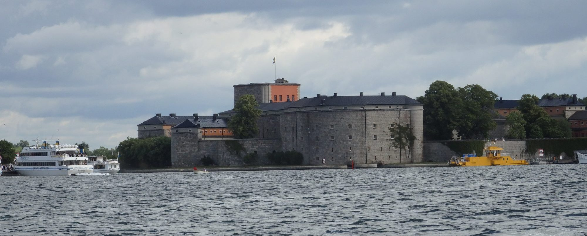 Vaxholm fortress in the Stockholm archipelago as seen from the water
