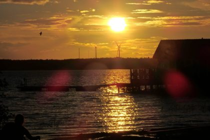 A slow sunset, as seen from Nasslingen Island, Sweden