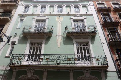 a modernist building in Alcoi, Spain