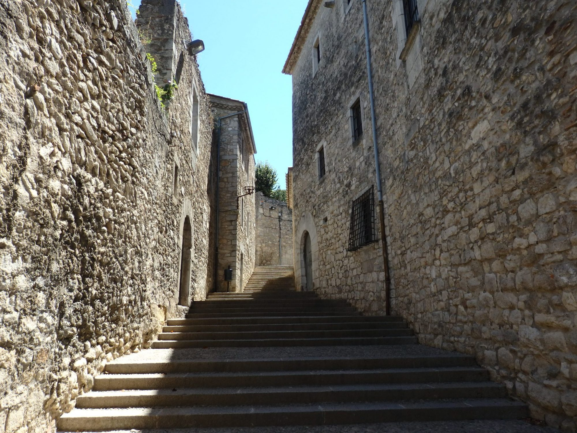 a street in the old section of Girona, Spain