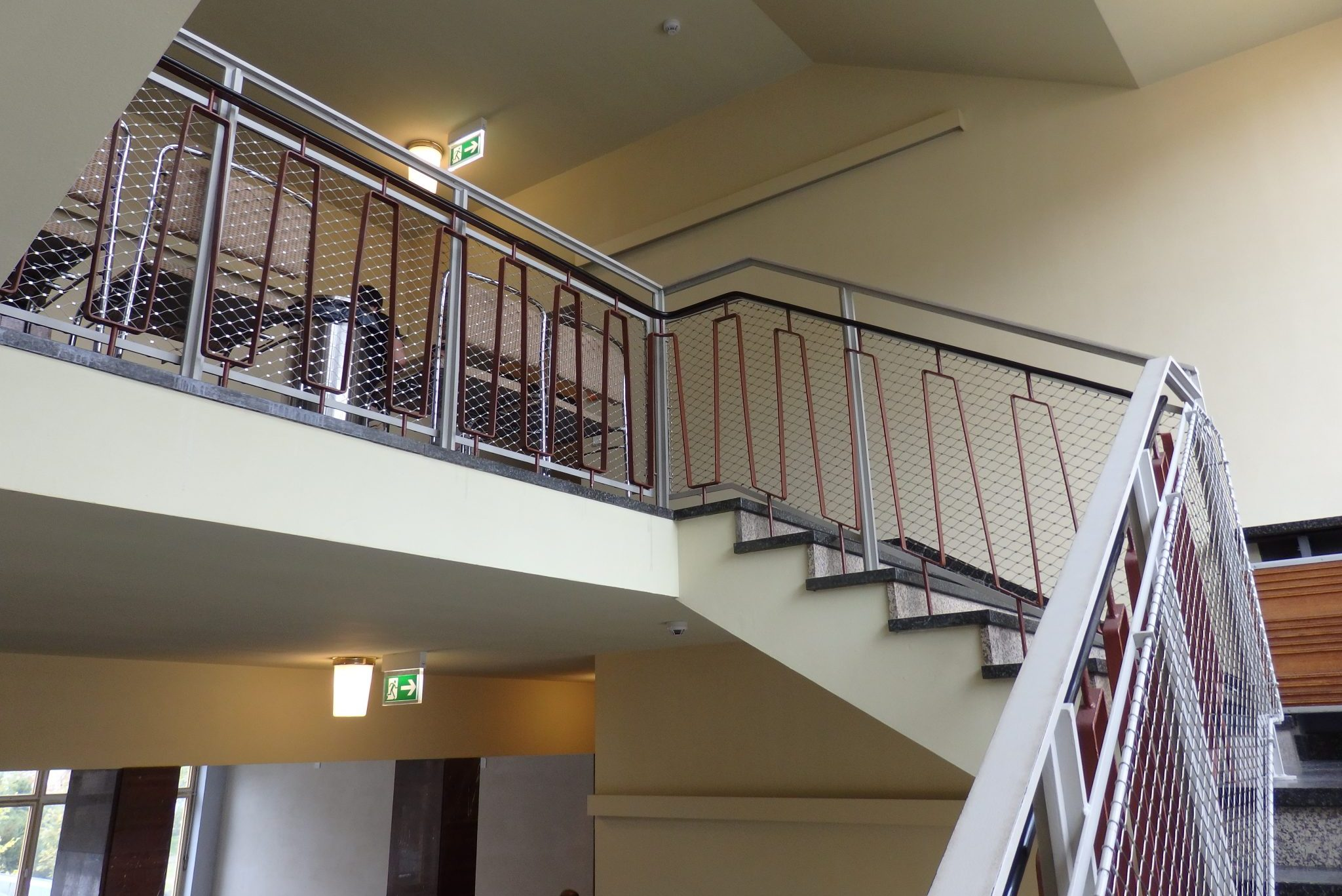 I think my suburban Connecticut school had the same stairway.