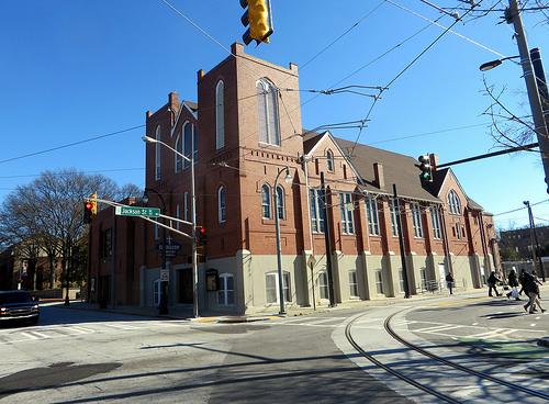 Ebenezer Baptist Church in Atlanta, Georgia. Image via Flickr by Sean_Marshall