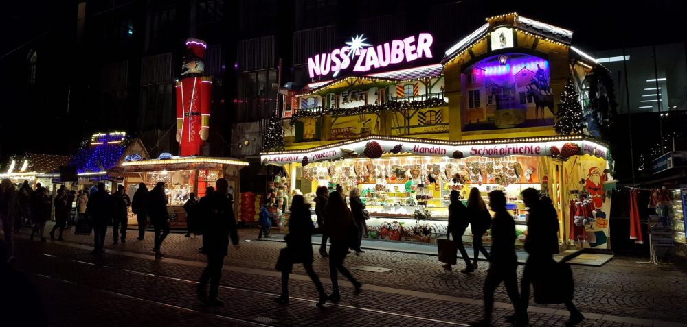 early evening at the Christmas market in Bremen, Germany