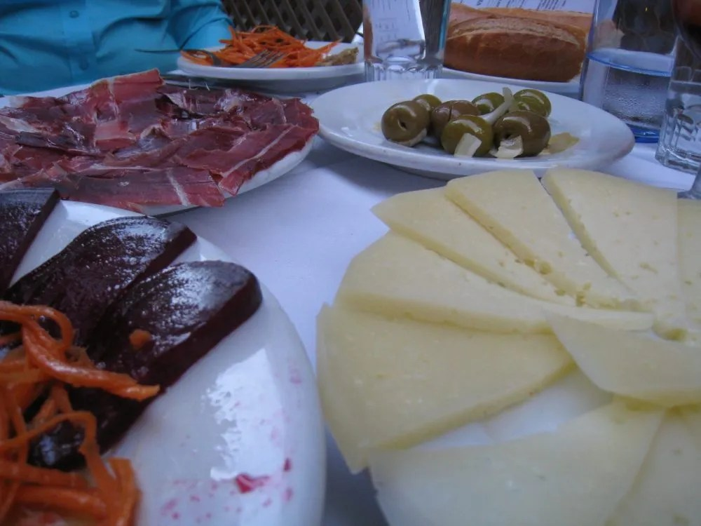 Tapas spread in Barcelona. Photo courtesy of Sue Reddel