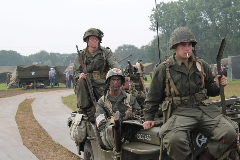 Travel the Liberation Route Europe to see an Operation Market Garden reenactment in Arnhem, the Netherlands. Photo courtesy of Liberation Route Europe.