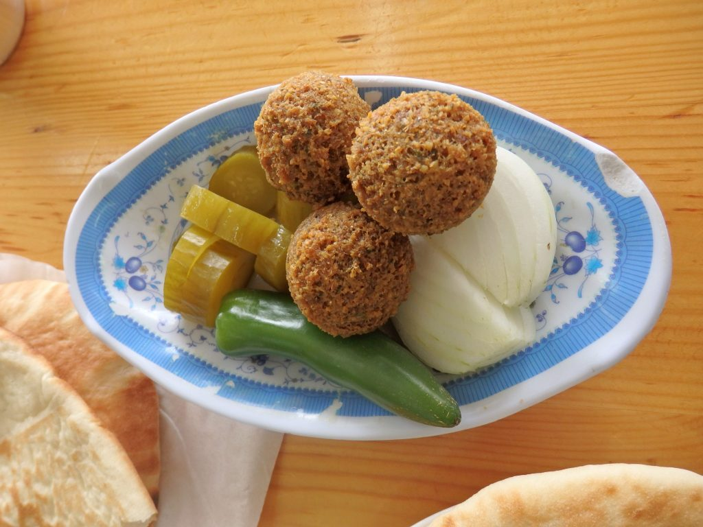 """The falafel part of my first """"bite"""" on my Bitemojo tour."""
