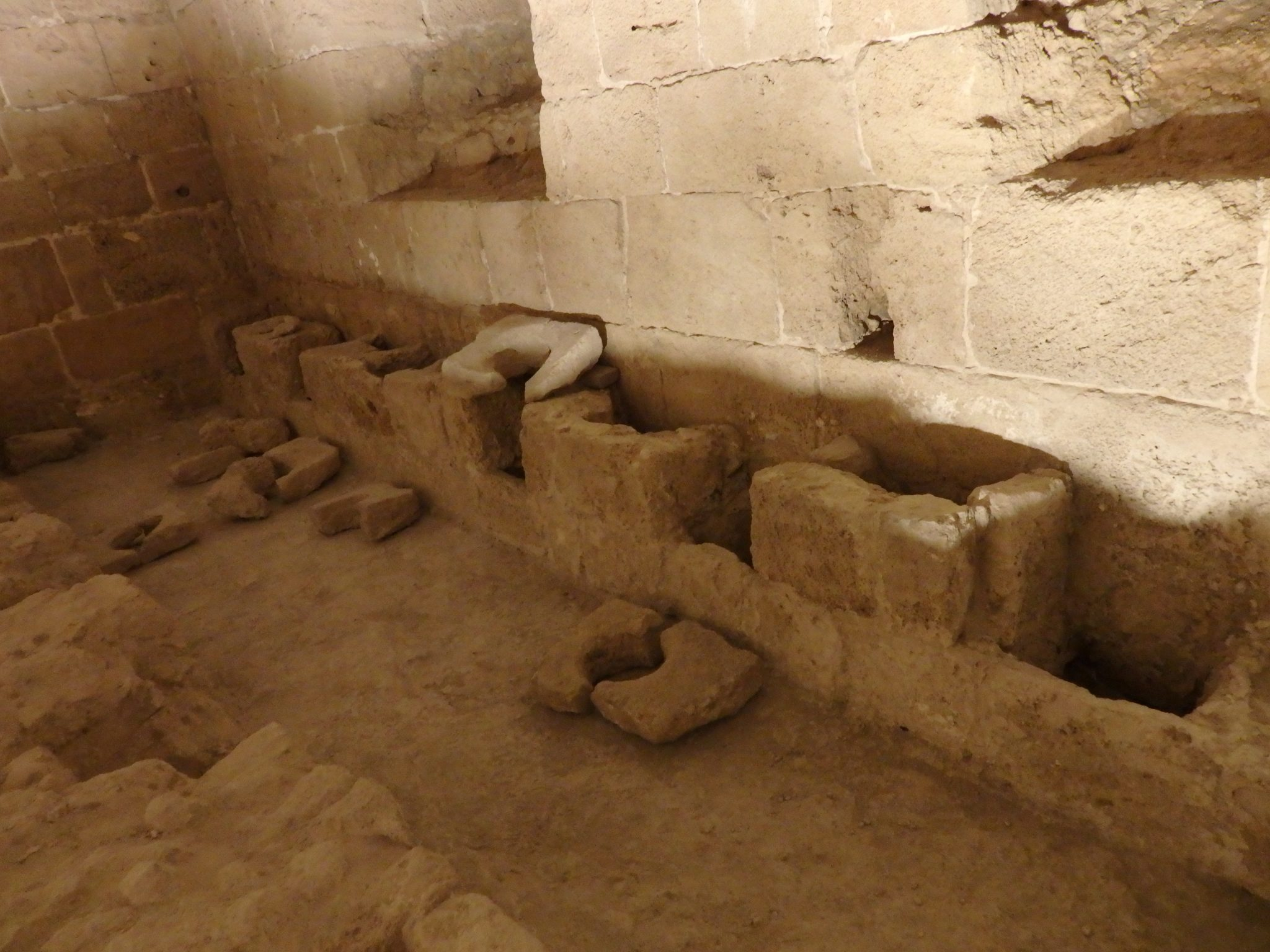 The Knights Hospitallers even provided public toilets, with a sewage system of sorts.