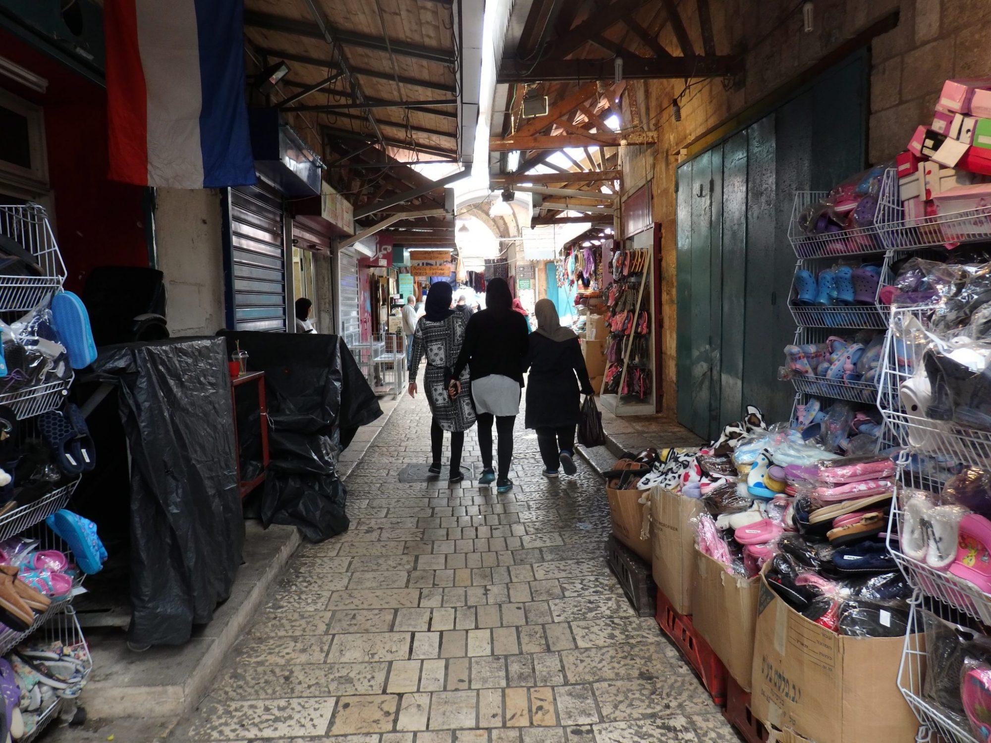 A shopping street in Akko old city