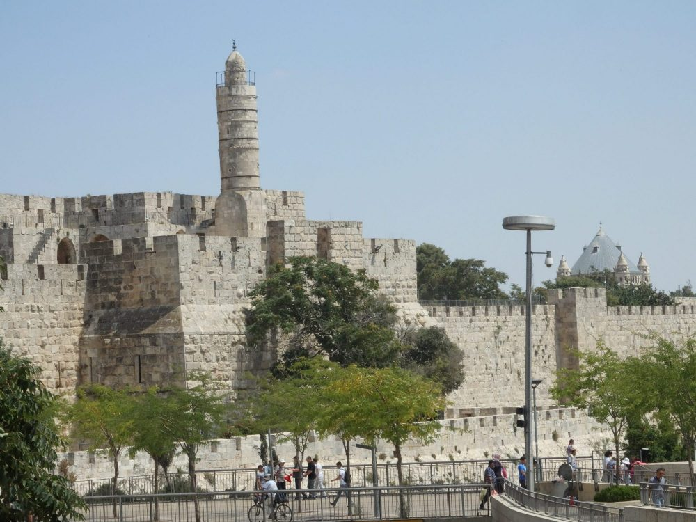 The Tower of David, as seen from outside the Jaffa Gate. The tower you see, also sometimes called the Tower of David, is a minaret.