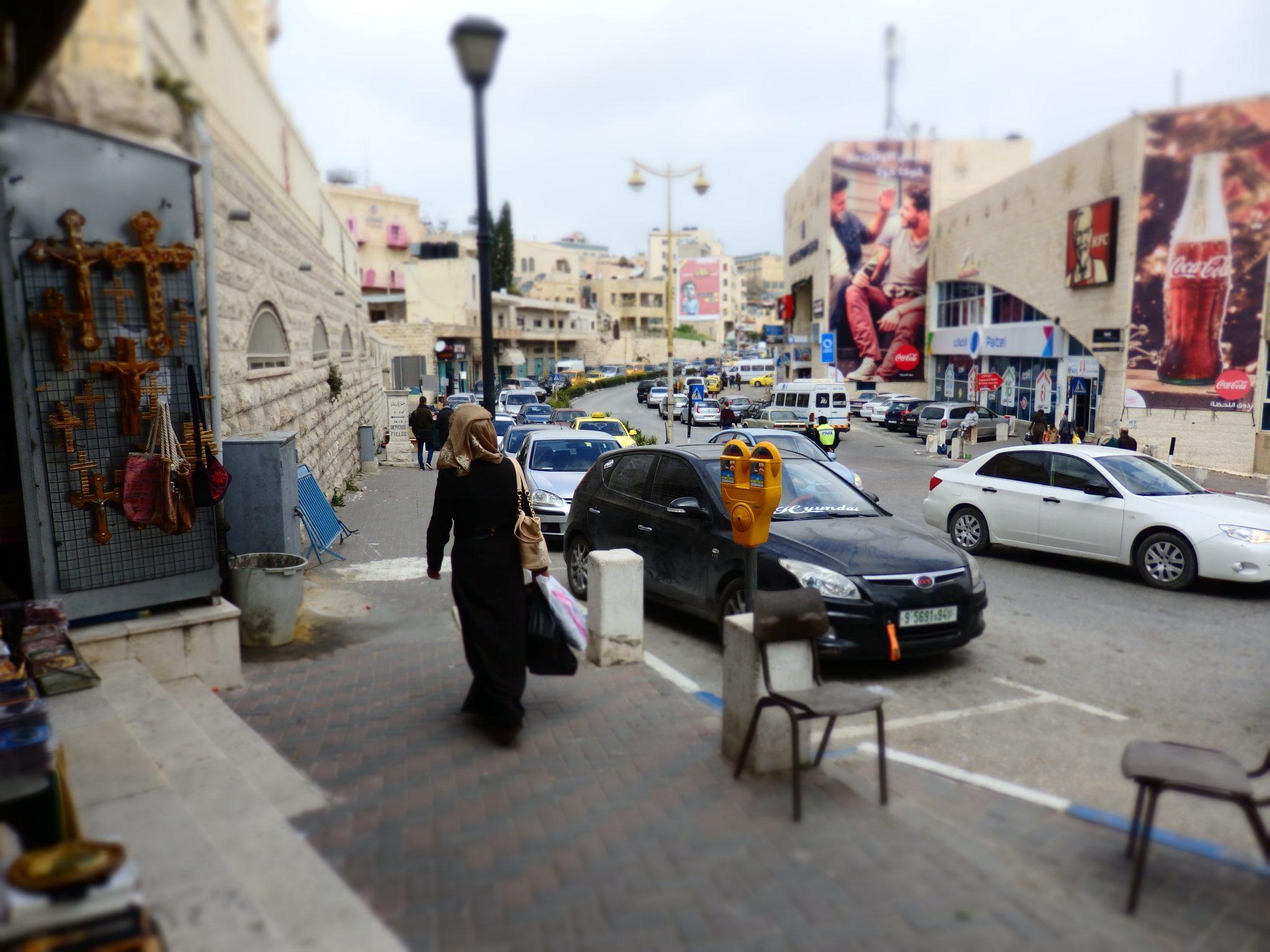a busy shopping street near where the tour begins