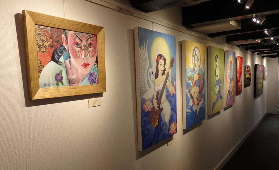 The gallery on the 3rd floor of the Erotic Museum Amsterdam