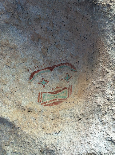 Traces of El Paso's history: There are about 200 mask images in Hueco Tanks State Park. Image via Flickr by VisitElPaso