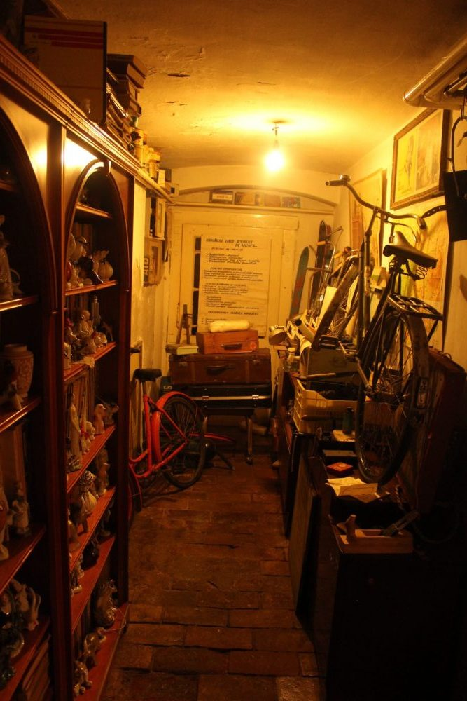 One section of the hallway at the Communist Consumers Museum