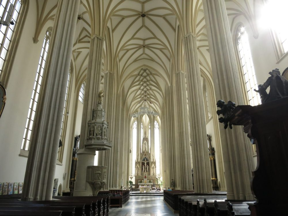 Inside St. James Church in Brno: Macabre sightseeing in Brno