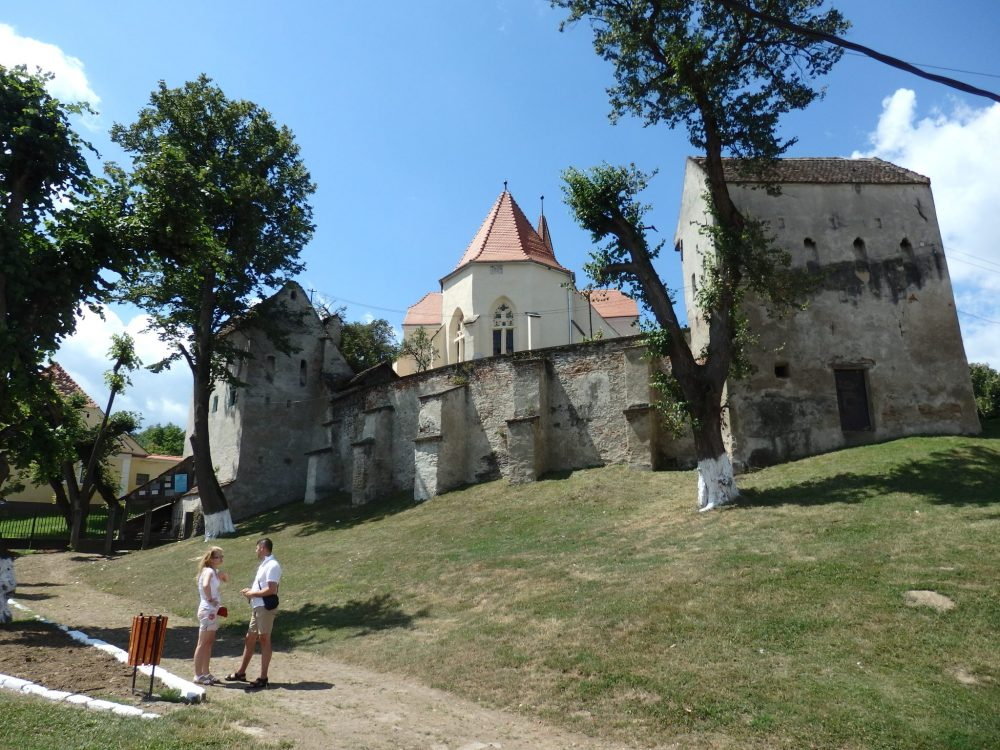 A view of Tarnave fortified church in Transylvania, Romania