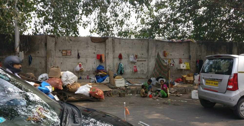 Pavement dwellers in Mumbai
