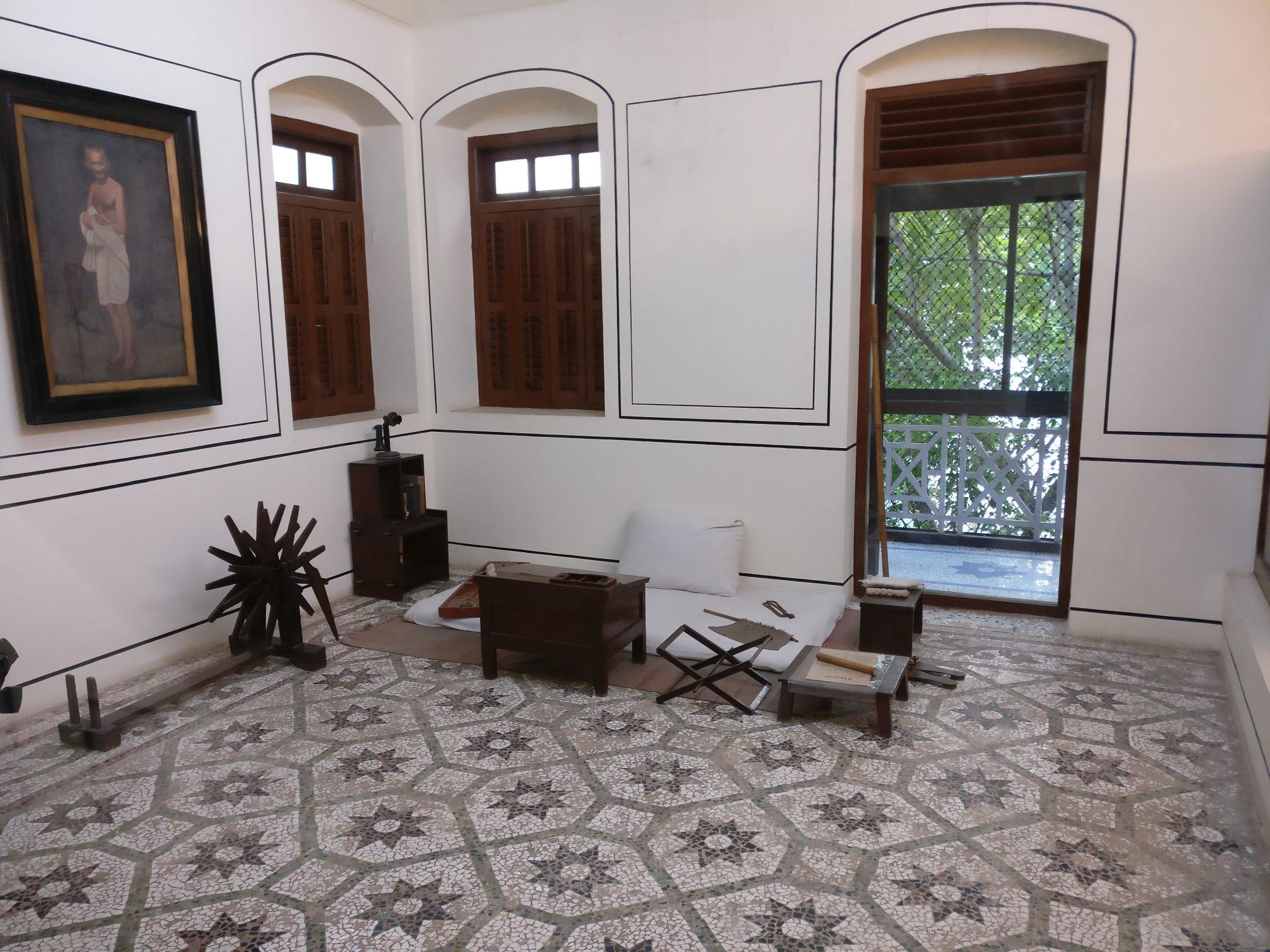 Gandhi's room, in the Gandhi Memorial Museum